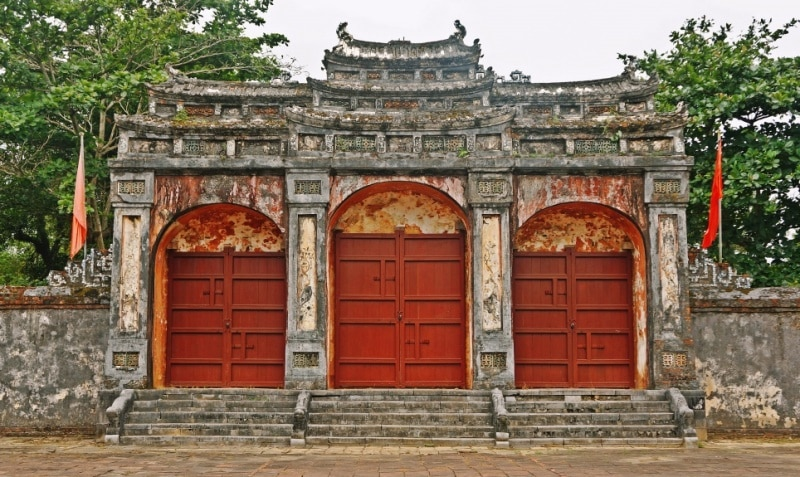 Dai Hong Mon Gate in Minh mang tomb