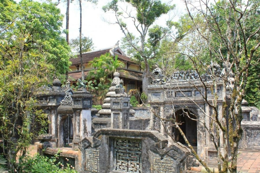 Tombs at Tu Hieu pagoda in Hue, Viet Nam