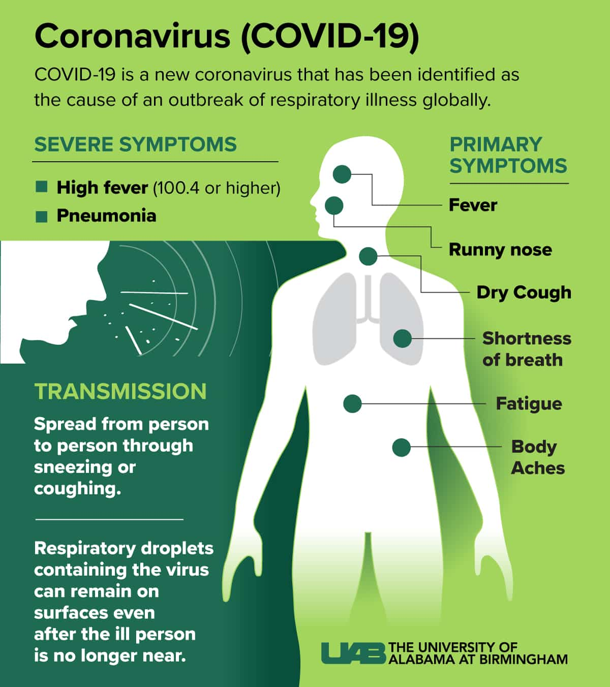 Coronavirus Symptoms graphic- Culture Pham Travel