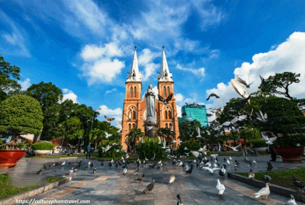 Ho Chi Minh City Tour- Notre Dame Cathedral- Culture Pham Travel