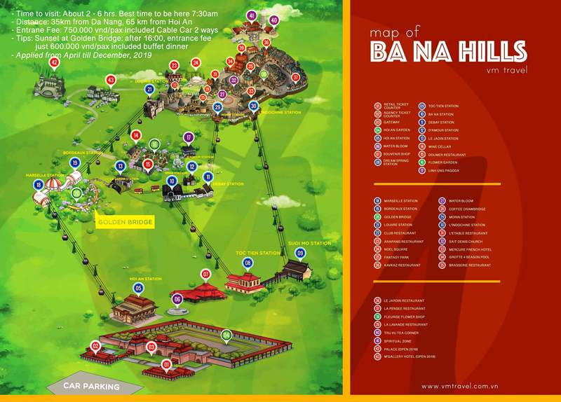 Ba Na Hills Map- Culture Pham Travel