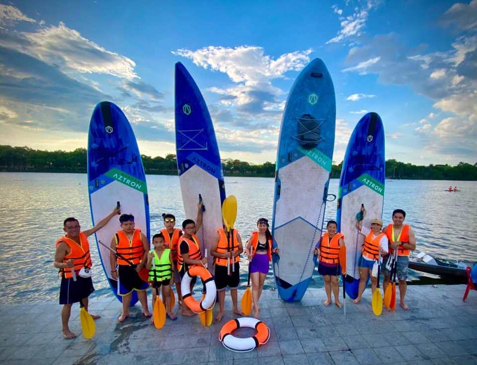 Surfing Sup on the Perfume River- Culture Pham Travel